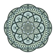 Flower Mandala. Vintage decorative elements. Oriental pattern, v