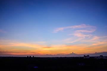 Beautiful sky orange sunset light