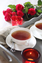 Romantic Tea drink for two in Valentine's Day