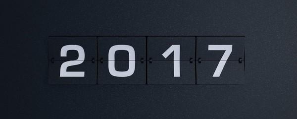 3d rendering flip board year 2017 Fotomurales