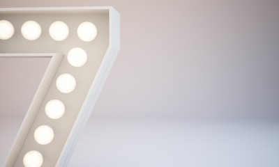 3D rendering Bulb Type close-up background