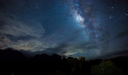 Milky Way. Beautiful night sky