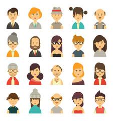 Cute avatars set
