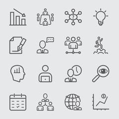 Management workflow line icon