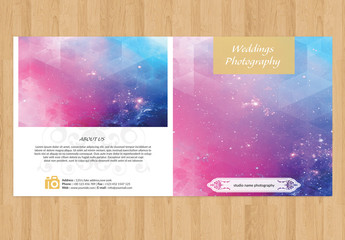 Clean and Simple Wedding Program Layout 2