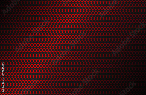 Red Geometric Polygons Background Hexagon Symbol Abstract Black Metallic Wallpaper Vector Illustration