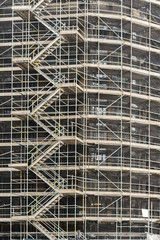 Scaffolding Surrounding Building