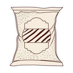 Sugar bag icon. Dessert sweet candy food and organic theme. Isolated design. Vector illustration