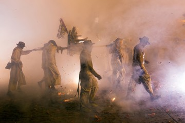 Night religious procession