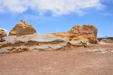 Landscape of rocky mountain at Atacama desert Chil