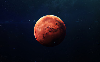 Wall Mural - Mars - High resolution beautiful art presents planet of the solar system. This image elements furnished by NASA