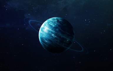 Wall Mural - Uranus - High resolution beautiful art presents planet of the solar system. This image elements furnished by NASA