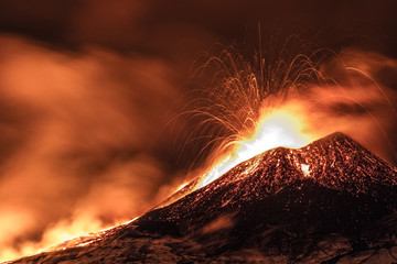 Poster Volcano Etna eruption - Catania, Sicily