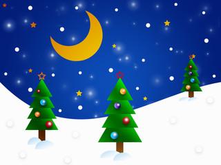 The christmas background - winter - illustration for the children