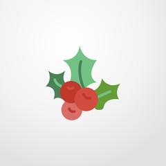 mistletoe icon. flat design