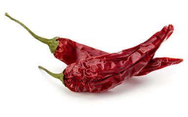 Canvas Prints Spices Dried red chili or chilli cayenne pepper isolated on white back