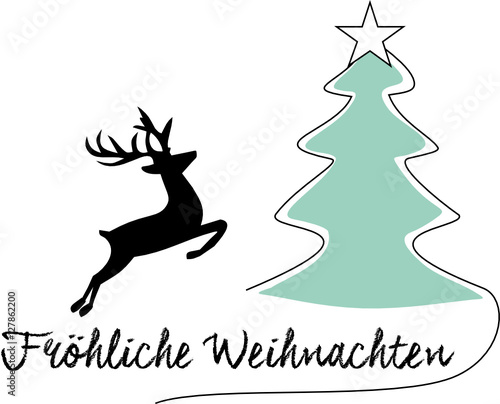 weihnachtsbaum weihnachten hirsch. Black Bedroom Furniture Sets. Home Design Ideas
