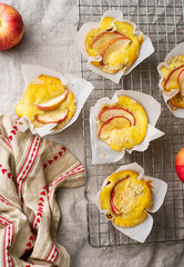 Fall Apple Muffins. style rustic