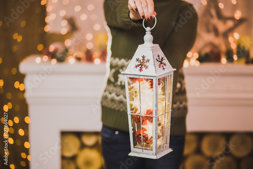 quot woman holding christmas decor in hands while decorating celebrations 6ft nutcracker r2031 2a interior home