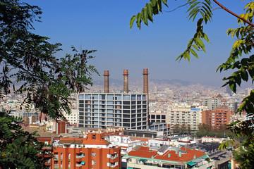 Mirador de Montjuic de la ciudad de Barcelona, España