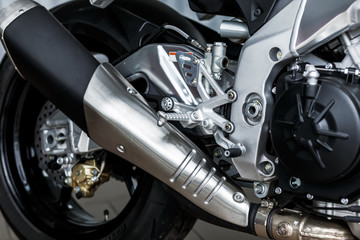 details of motorcycle, Motorbike into deep,