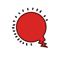 Bubble icon. Communication message discussion and conversation theme. Isolated design. Vector illustration