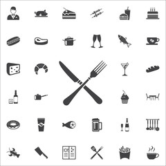 crossed fork over knife icon