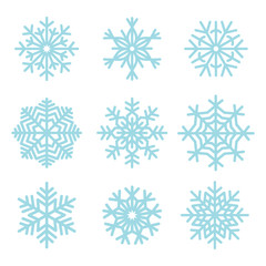Snowflakes vector design set