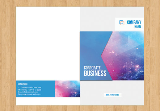 Corporate Brochure Layout with Statistics Illustration 2