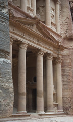 The Treasury building or Al Khazneh at Petra, Jordan