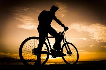 Silhouettes Of Biker