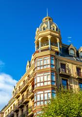 Buildings in the city centre of San Sebastian - Spain