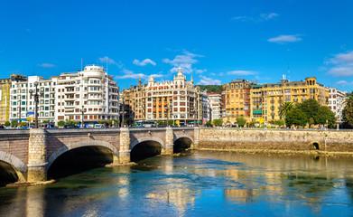 Fototapeta premium Pejzaż San Sebastian lub Donostia - Hiszpania