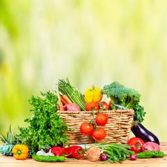 Fototapete - Organic vegetables