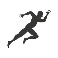 athlete running character icon vector illustration design