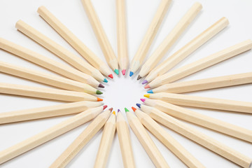 Colorful wooden color pencil