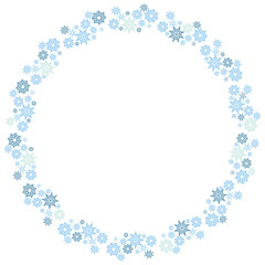 Christmas Snowflake Circle Wreath Pattern