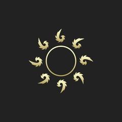 Golden Tribal Sun Logo