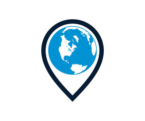 Map pointer Icon Flat Location Symbol Sign For Maps, Schemes, Infographics, Earth