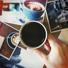 Cafe Coffee Break Americano Espresso Photography Concept