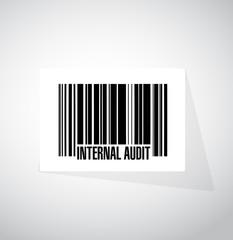 Internal Audit barcode sign concept