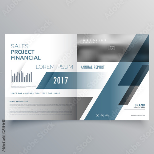 Business Brochure Cover Page Design Template Stock Image And