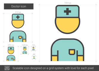 Doctor line icon.