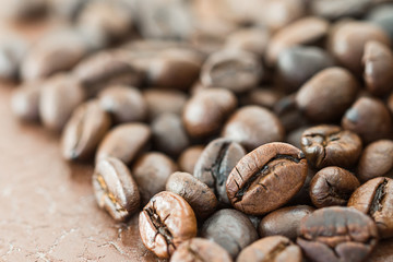 Heap of roasted coffee bean