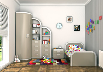 Modern children's room
