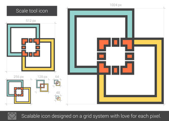 Scale tool line icon.