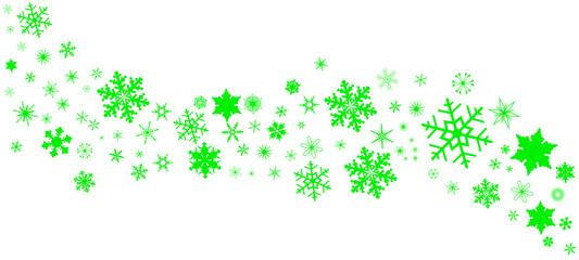 Green Christmas Snowflake  Banner