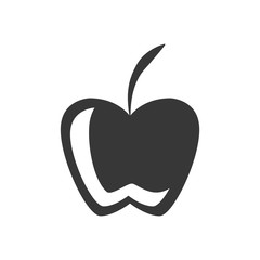 silhouette fruit apple graphic icon vector illustration eps 10