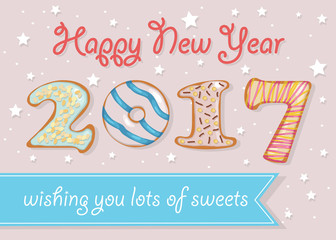 Happy New Year 2017. Wishing you lots of sweets