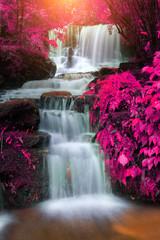 beautiful waterfall in rain forest, Thailand